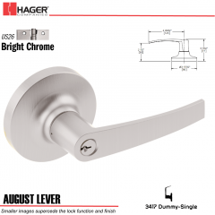 Hager 3417 August Lever Lockset US26 Stock No 028516