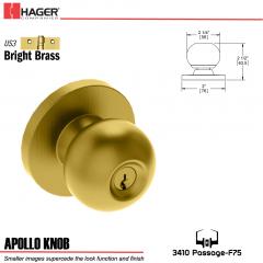Hager 3510 Apollo Knob Lockset US3 Stock No 013094