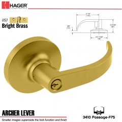 Hager 3510 Archer Lever Lockset US3/US26D Stock No 127125