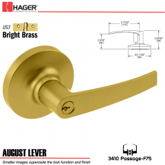 Hager 3510 August Lever Lockset US3 Stock No 107672