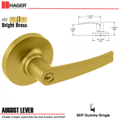 Hager 3517 August Lever Lockset US3 Stock No 111293
