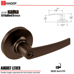 Hager 3525 August Lever Lockset US10B Stock No 038434