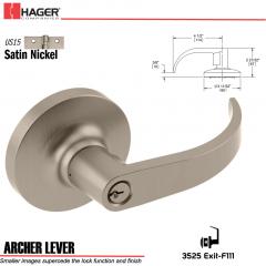 Hager 3525 Archer Lever Lockset US15 Stock No 131176