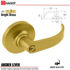 Hager 3525 Archer Lever Lockset US3 Stock No 095533