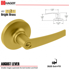 Hager 3525 August Lever Lockset US3 Stock No 038519