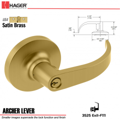 Hager 3525 Archer Lever Lockset US4 Stock No 095534