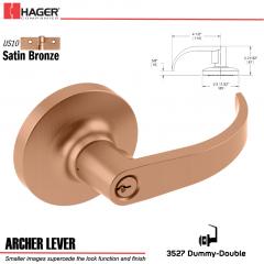 Hager 3527 Archer Lever Lockset US10 Stock No 111169
