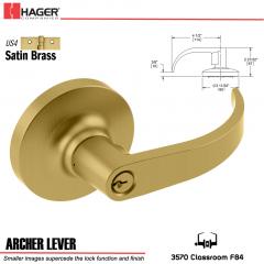 Hager 3570 Archer Lever Lockset US4 Stock No 145271
