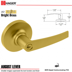 Hager 3579 August Lever Lockset US3 Stock No 192754