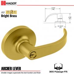 Hager 3610 Archer Lever Lockset US3 Stock No 119605