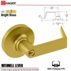 Hager 3610 Withnell Lever Lockset US3 Stock No 097765