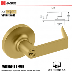 Hager 3610 Withnell Lever Lockset US4 Stock No 101158