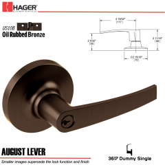 Hager 3617 August Lever Lockset US10B Stock No 027275