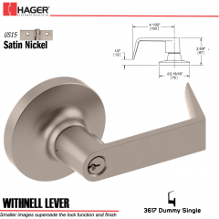 Hager 3617 Withnell Lever Lockset US15 Stock No 157560