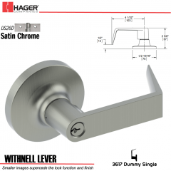 Hager 3617 Withnell Lever Lockset US26D Stock No 013165