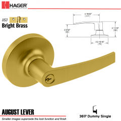 Hager 3617 August Lever Lockset US3 Stock No 027262