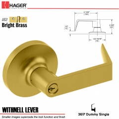 Hager 3617 Withnell Lever Lockset US3 Stock No 013167