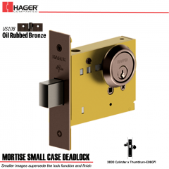 Hager 3830 US10B Mortise Deadlock Stock No 152788