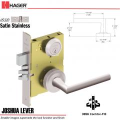 Hager 3856 US32D Joshua Lever Door Lock Stock No 191004