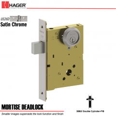 Hager 3862 US26D Mortise Deadlock Stock No 173564