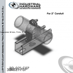 EMT Pipe Clamp-Assembled From Stainless Type 316 For 2 in. Conduit