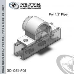 Hold Down Straps For Iron Pipe/Rigid Conduit Steel-E.G. (ZP) 1/2 in. Pipe