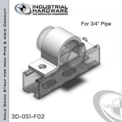 Hold Down Straps For Iron Pipe/Rigid Conduit Steel-E.G. (ZP) 3/4 in. Pipe