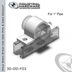 Hold Down Straps For Iron Pipe/Rigid Conduit Steel-E.G. (ZP) 1 in. Pipe