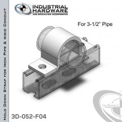 Hold Down Straps For Iron Pipe/Rigid Conduit Steel-E.G. (ZP) 3-1/2 in. Pipe