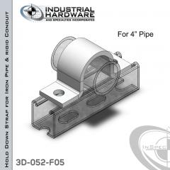 Hold Down Straps For Iron Pipe/Rigid Conduit Steel-E.G. (ZP) 4 in. Pipe