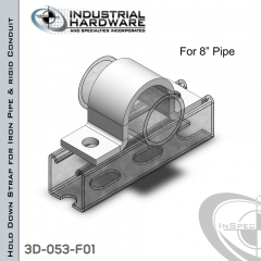 Hold Down Straps For Iron Pipe/Rigid Conduit Steel-E.G. (ZP) 8 in. Pipe