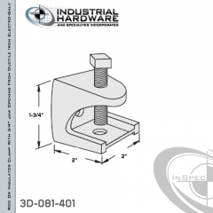Rod Or Insulator Clamp With 3/4 in. Jaw Opening From Ductile Iron Electro-Galv For 3/8-16