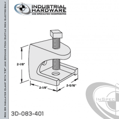 Rod Or Insulator Clamp With 7/8 in. Jaw Opening From Ductile Iron Electro-Galv For 1/2-13