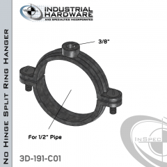 No Hinge Split Ring Hanger From Stainless Type 316 For 1/2 in. Pipe