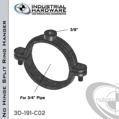 No Hinge Split Ring Hanger From Stainless Type 316 For 3/4 in. Pipe