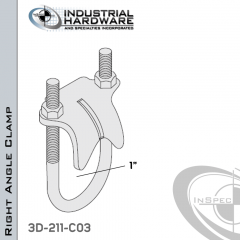 Right Angle Clamp From Stainless Type 316 For 1 in. Pipe