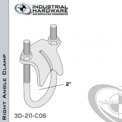 Right Angle Clamp From Stainless Type 316 For 2 In. Pipe