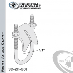 Right Angle Clamp From Steel-Hot Dip Galv. For 1/2 in. Pipe