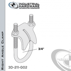 Right Angle Clamp From Steel-Hot Dip Galv. For 3/4 in. Pipe