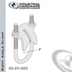 Right Angle Clamp From Steel-Hot Dip Galv. For 1 in. Pipe