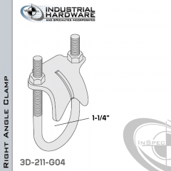 Right Angle Clamp From Steel-Hot Dip Galv. For 1-1/4 in. Pipe