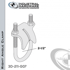 Right Angle Clamp From Steel-Hot Dip Galv. For 2-1/2 in. Pipe