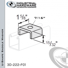U-Shape Saddle Washer From Steel-E.G. (Zinc Plated) With 0.44 (7/16 in.)
