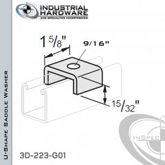 U-Shape Saddle Washer From Steel-Hot Dip Galv. With 9/16 in. Hole (1/2 in. Bolt)