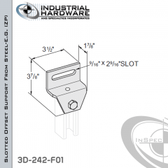 Slotted Offset Support From Steel-E.G. (Zinc Plated) With 2-Holes