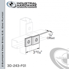 Z-Supports From Steel-E.G. (Zinc Plated) With 1/4 in. Offset And 2-Holes
