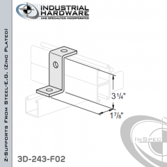 Z-Supports From Steel-E.G. (Zinc Plated) With 4-7/8 in. Offset And 2-Holes