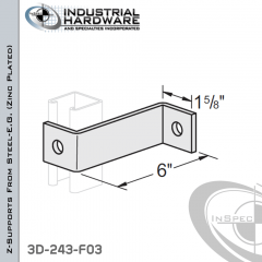 Z-Supports From Steel-E.G. (Zinc Plated) With 6 in. Offset And 2-Holes