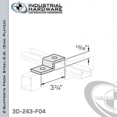 Z-Supports From Steel-E.G. (Zinc Plated) With 13/16 in. Offset And 2-Holes