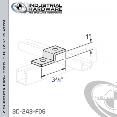 Z-Supports From Steel-E.G. (Zinc Plated) With 1 in. Offset And 2-Holes